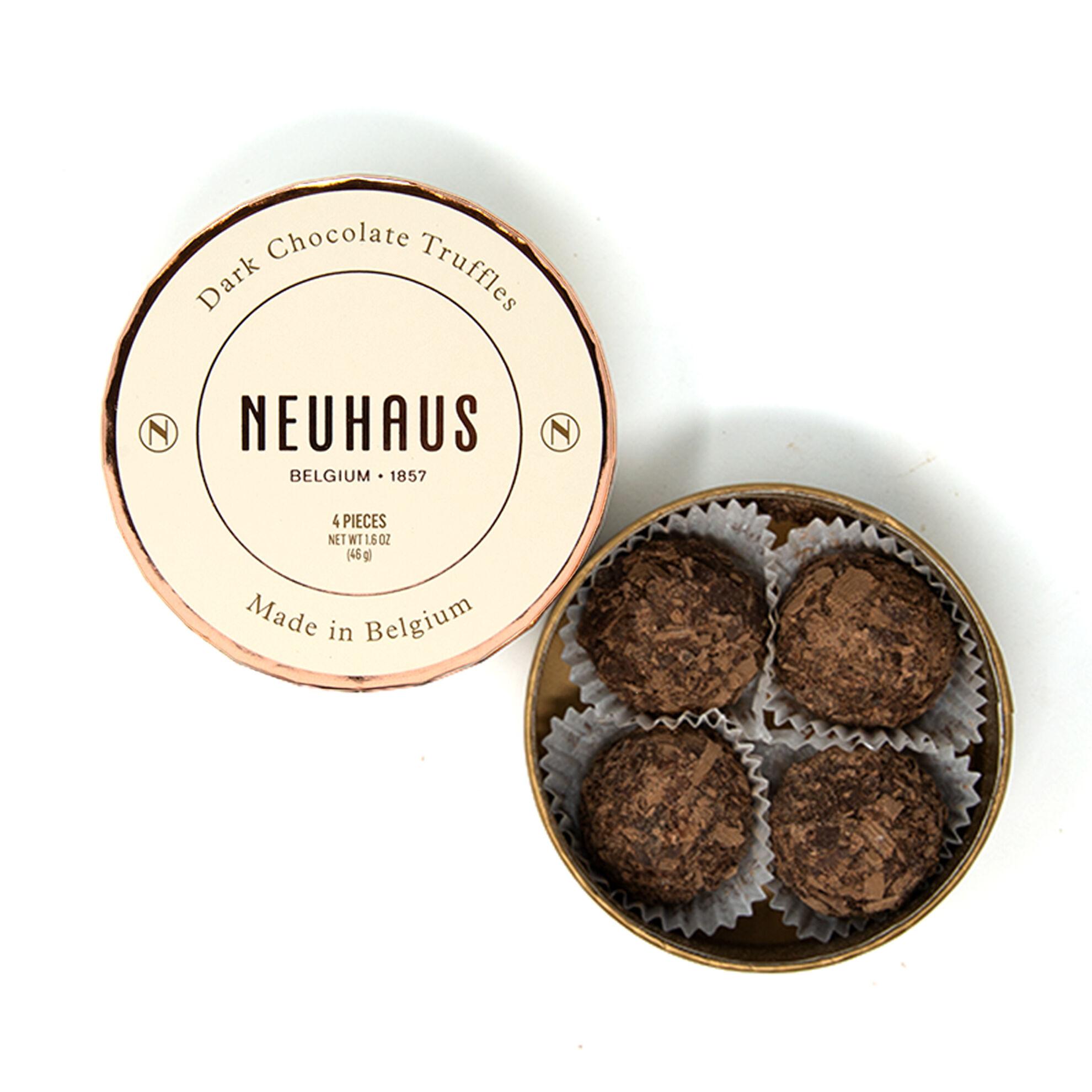 Dark Chocolate Truffles in Round Box 4 pcs image number 01