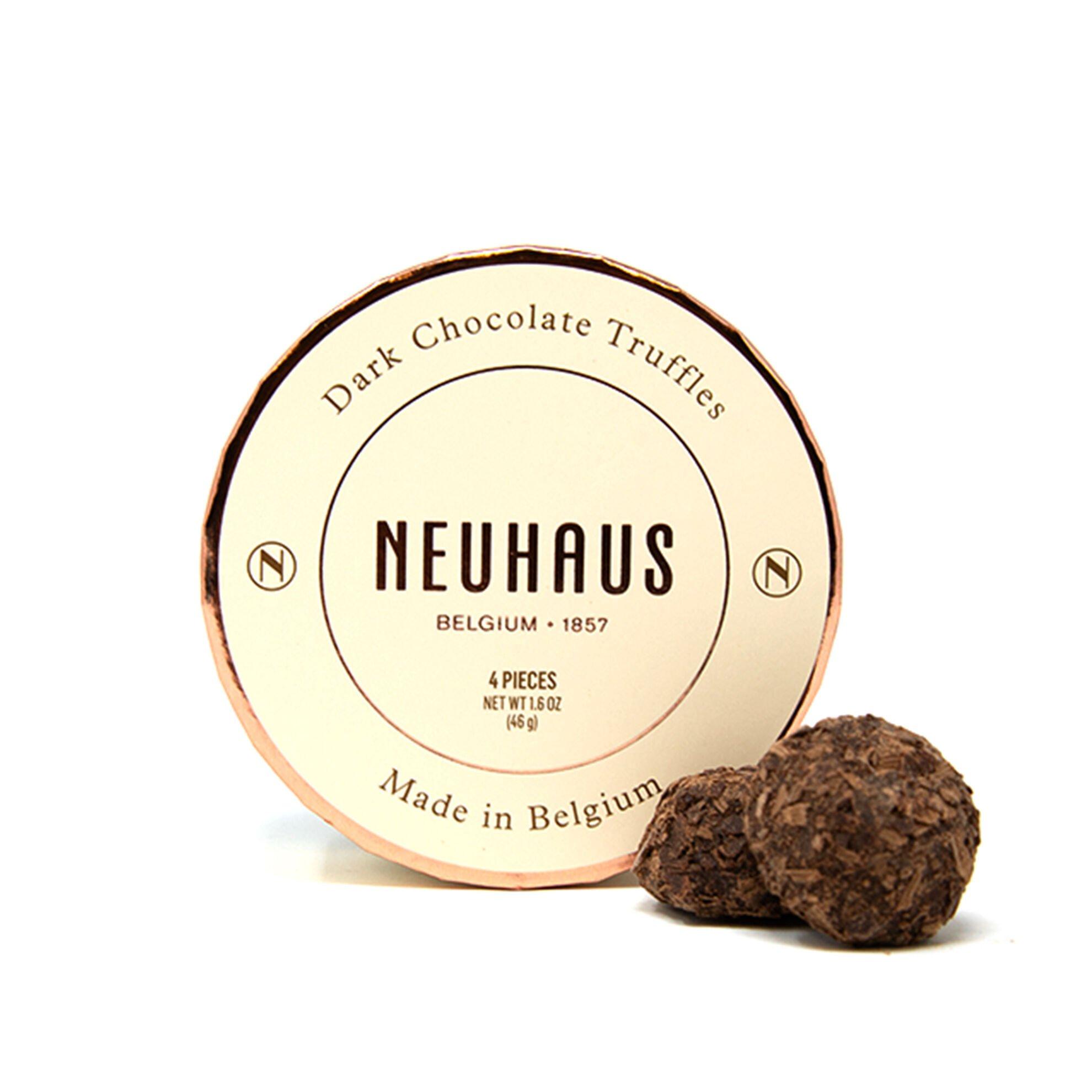 Dark Chocolate Truffles in Round Box 4 pcs image number 11