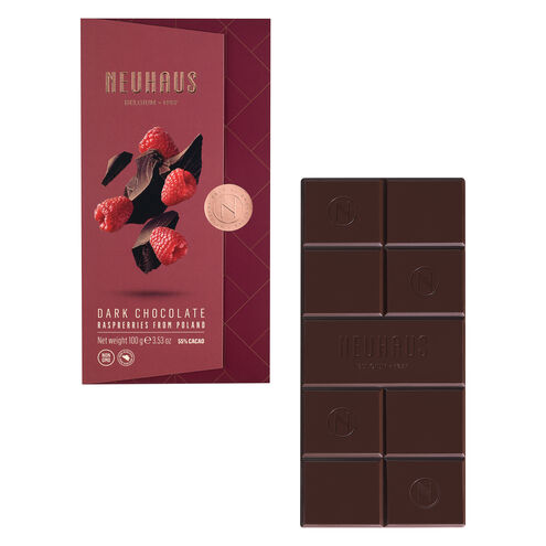 Dark Chocolate with Raspberry Bits Tablet image number 01