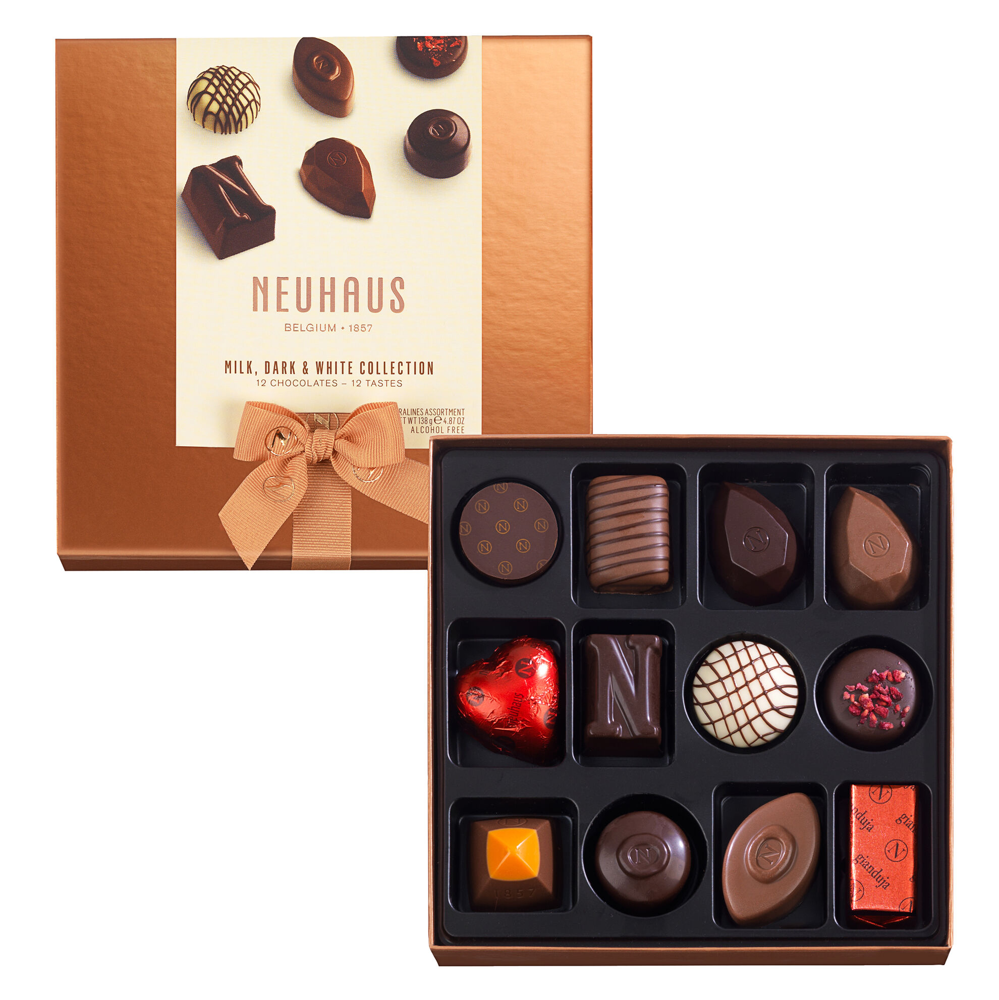 Neuhaus Discovery Collection: Milk, Dark, White Chocolate Assortment 12 pcs image number 01