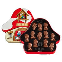 Chocolate Smurfs Mushroom House Tin 24 pcs