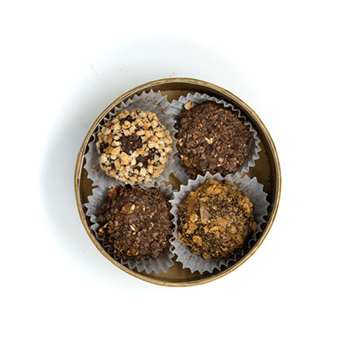 Chocolate Truffles in Round Box - Assorted 4 pcs image number 21