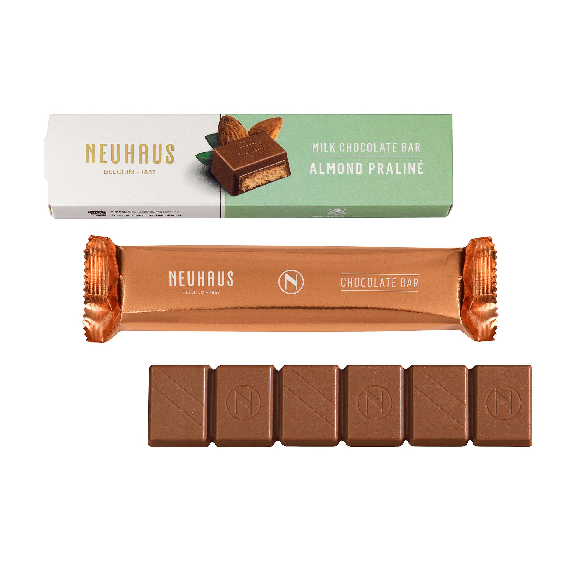 Barre chocolat praliné amandes image number 01