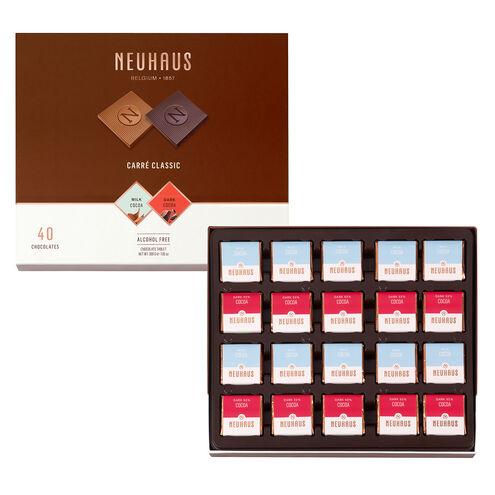 Belgian Chocolate Squares - Carré Classic Milk & Dark 40 pcs image number 01