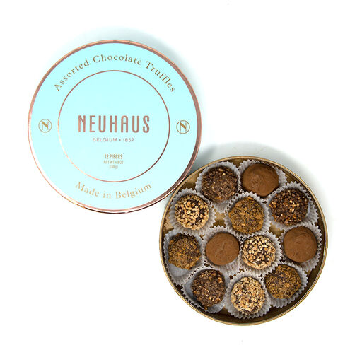 Chocolate Truffles in Round Box - Assorted Large 12 pcs image number 01