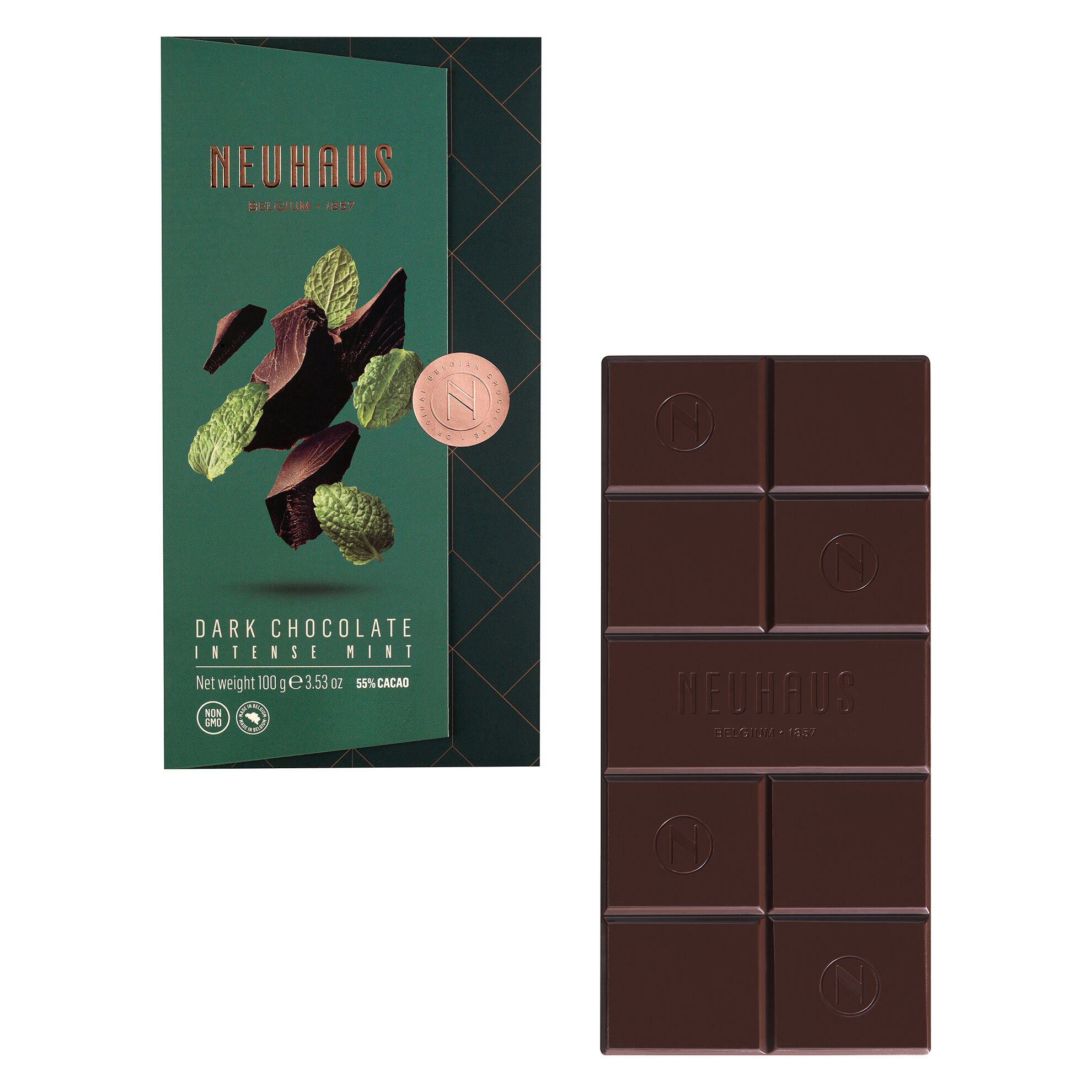 Tablet Dark Peppermint 100G (55% Cocoa) image number 01