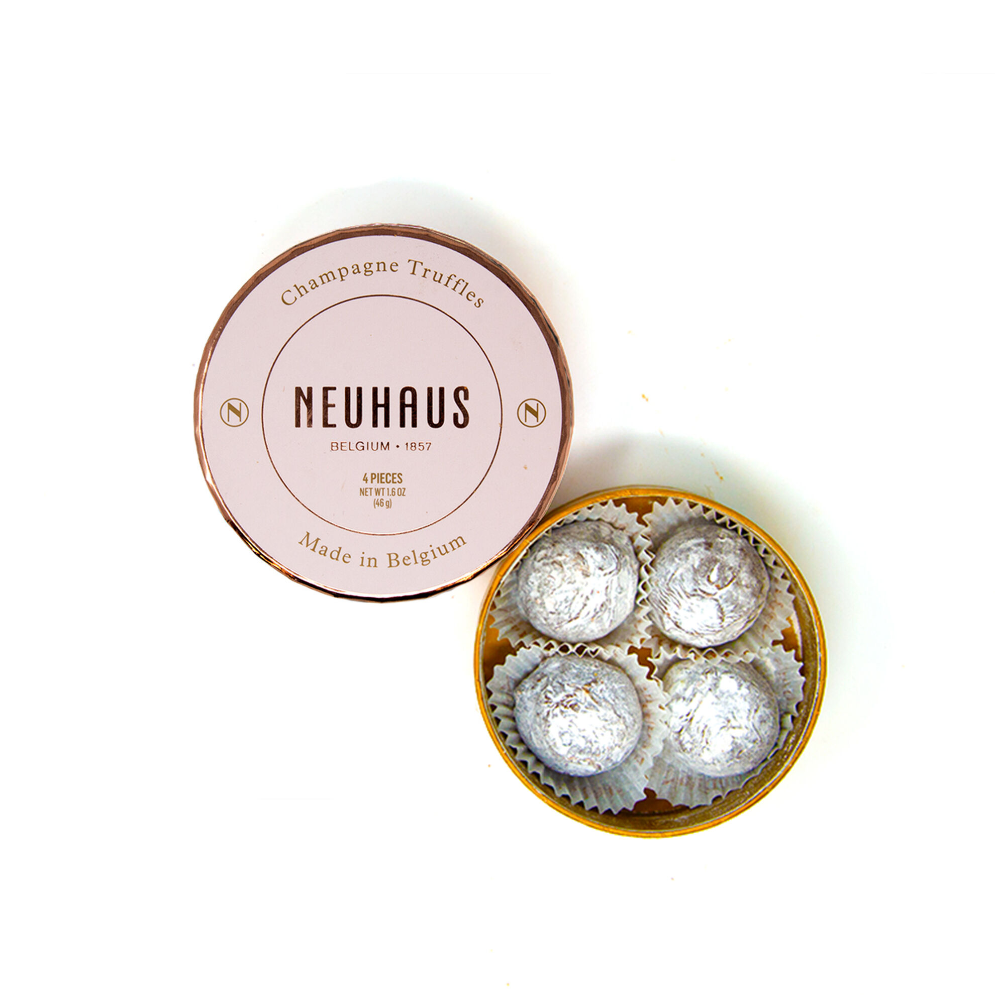 Champagne Truffles in Round Box 4 pcs image number 01