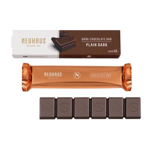 Dark Chocolate Bar Plain 52% image number 01