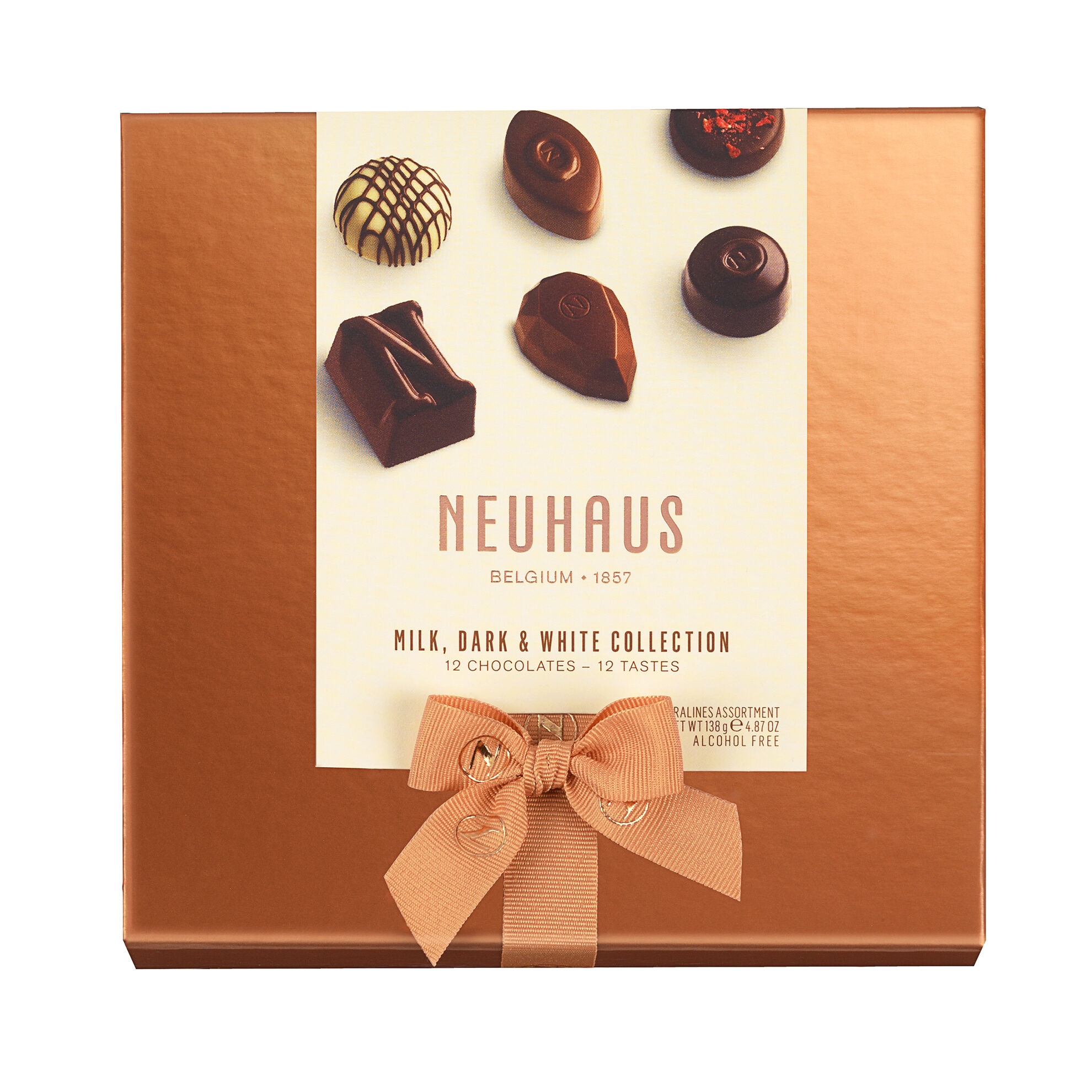 Neuhaus Discovery Collection: Milk, Dark, White Chocolate Assortment 12 pcs image number 11