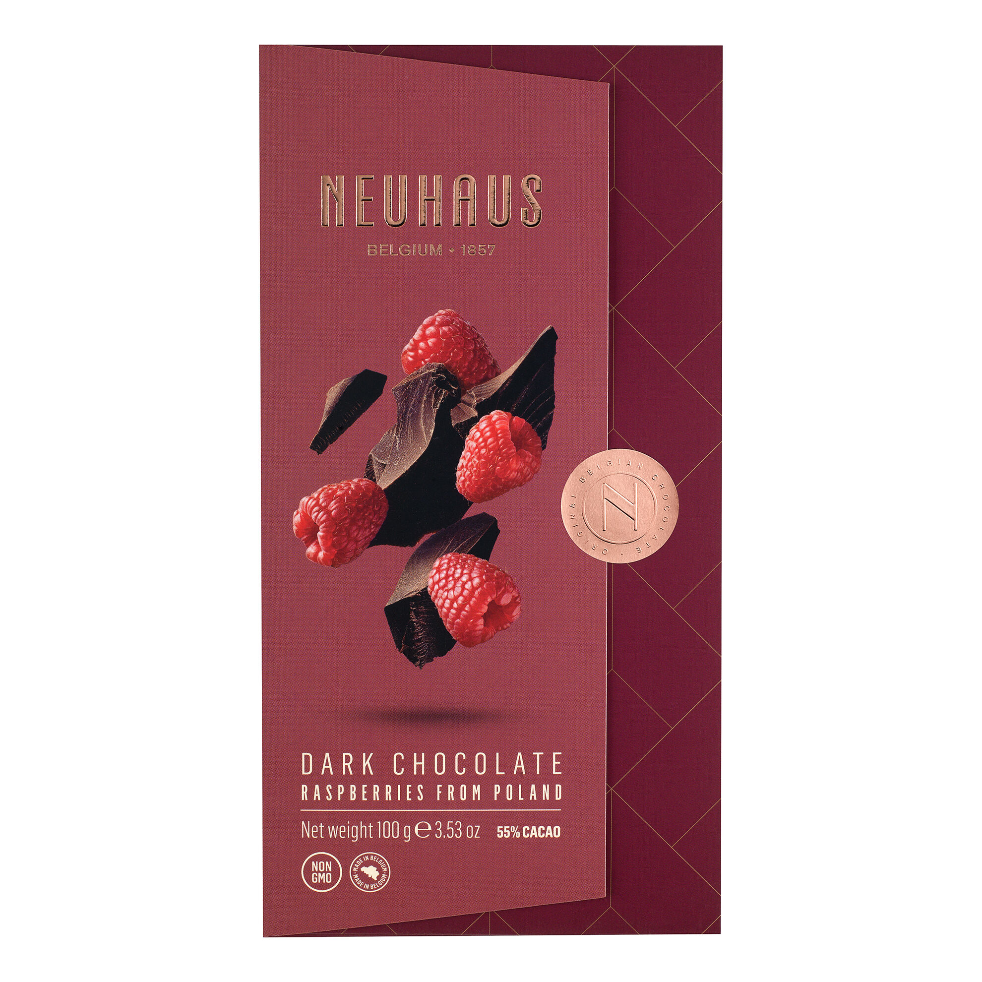 Dark Chocolate with Raspberry Bits Tablet image number 11